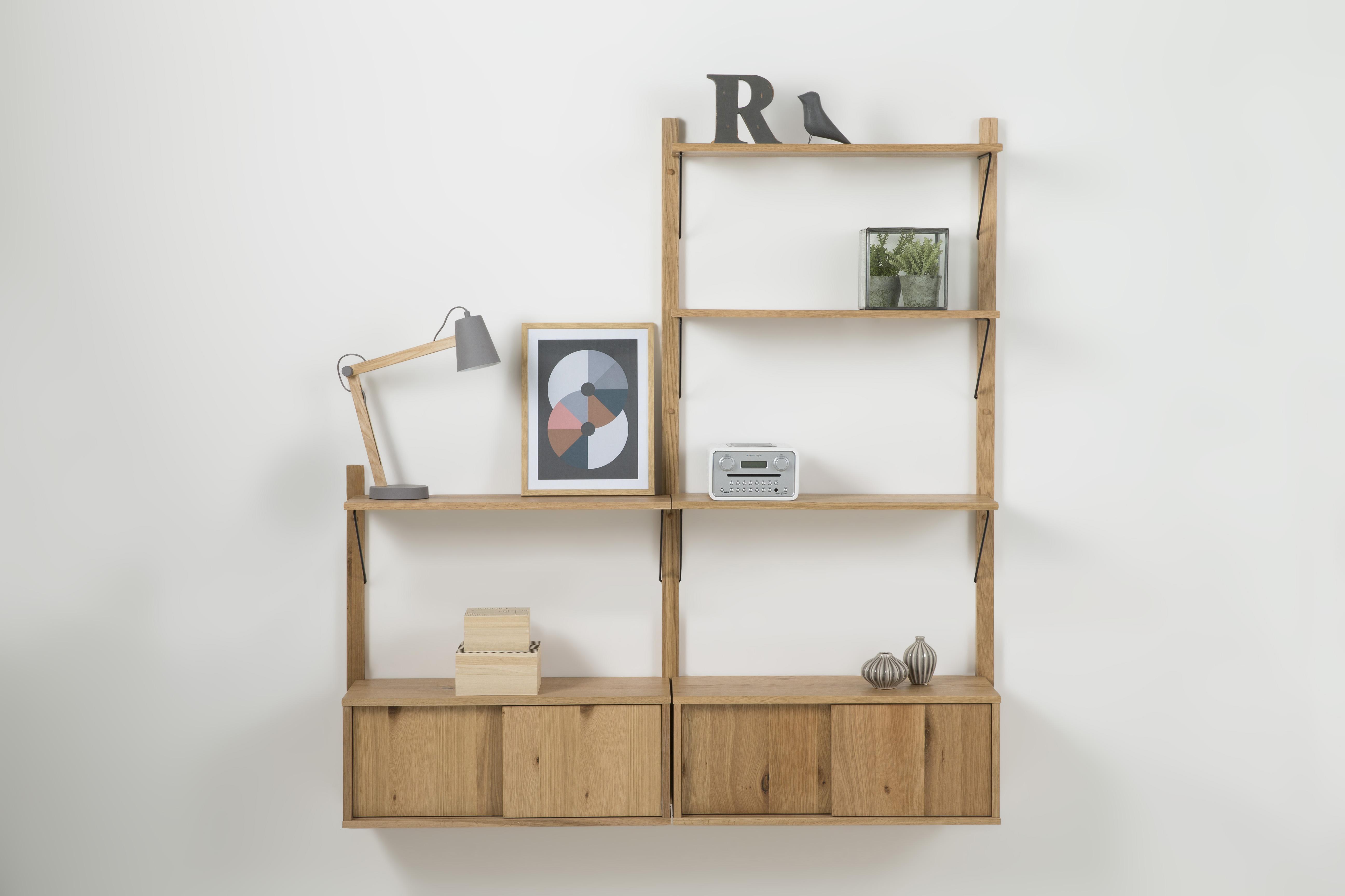 Etajera Din Furnir De Stejar Declan Oak System 1