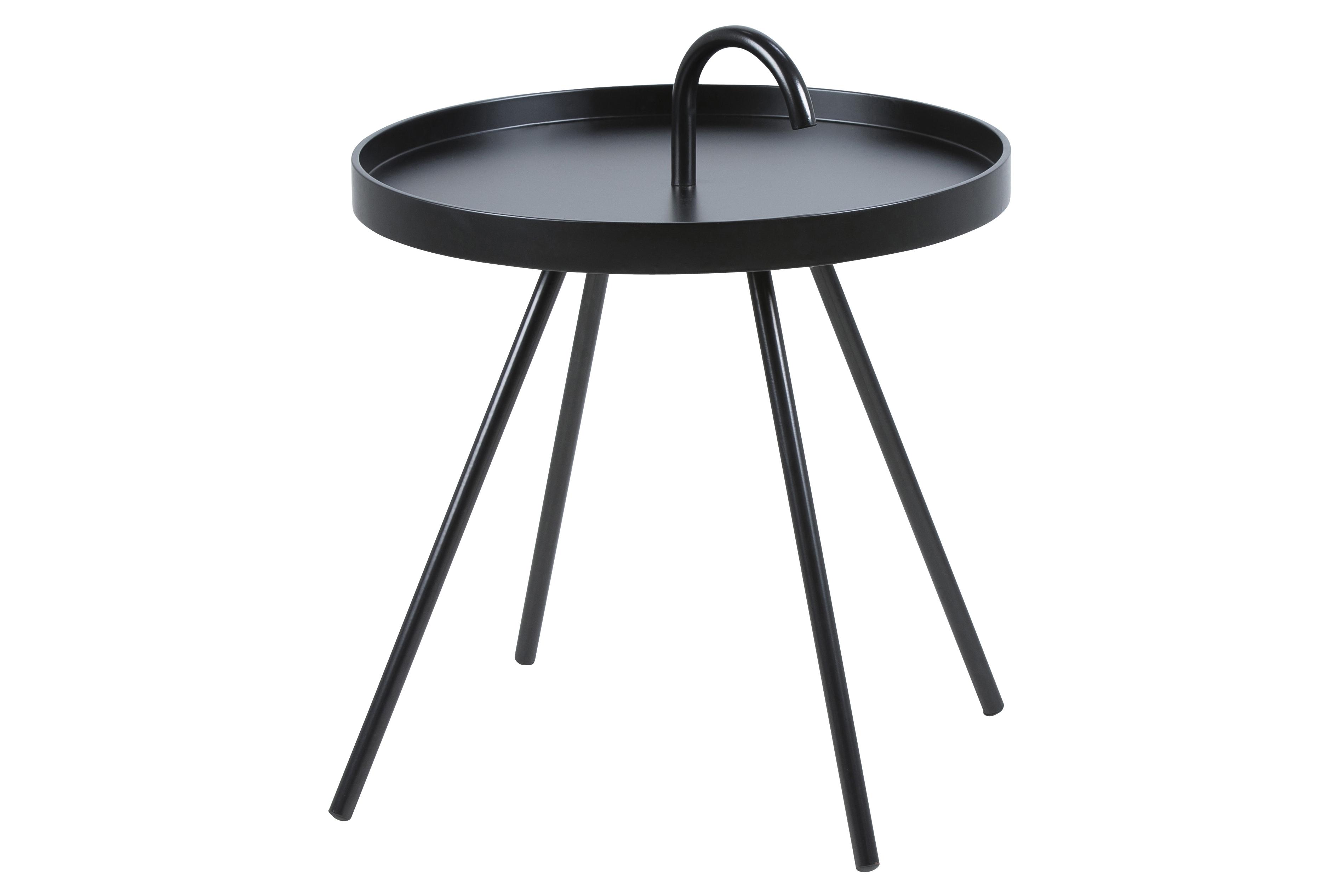 Masuta Din Mdf Si Metal Mico Black Ø51xh62 5 Cm