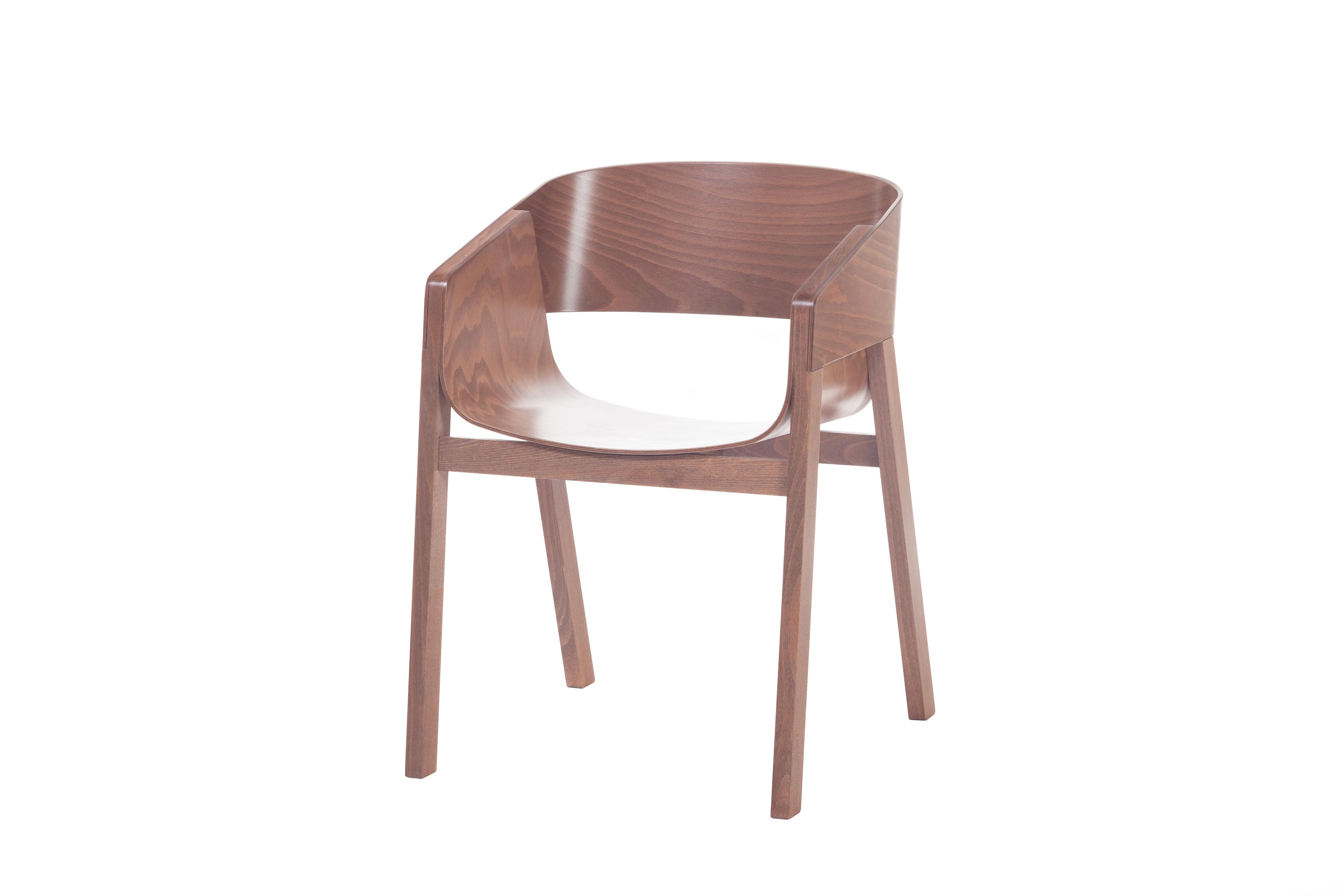Scaun din lemn de nuc Merano Walnut