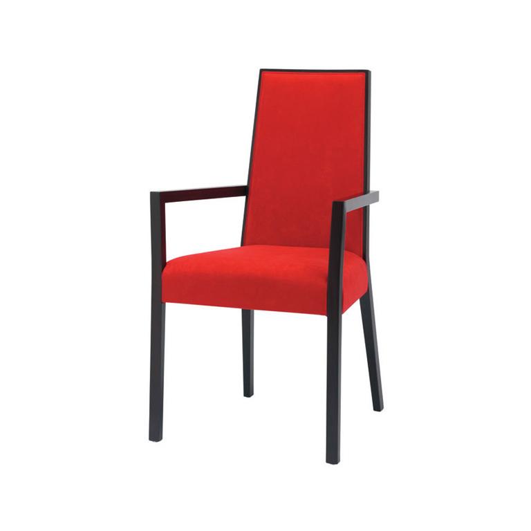 Scaun tapitat din lemn de fag Paris Red