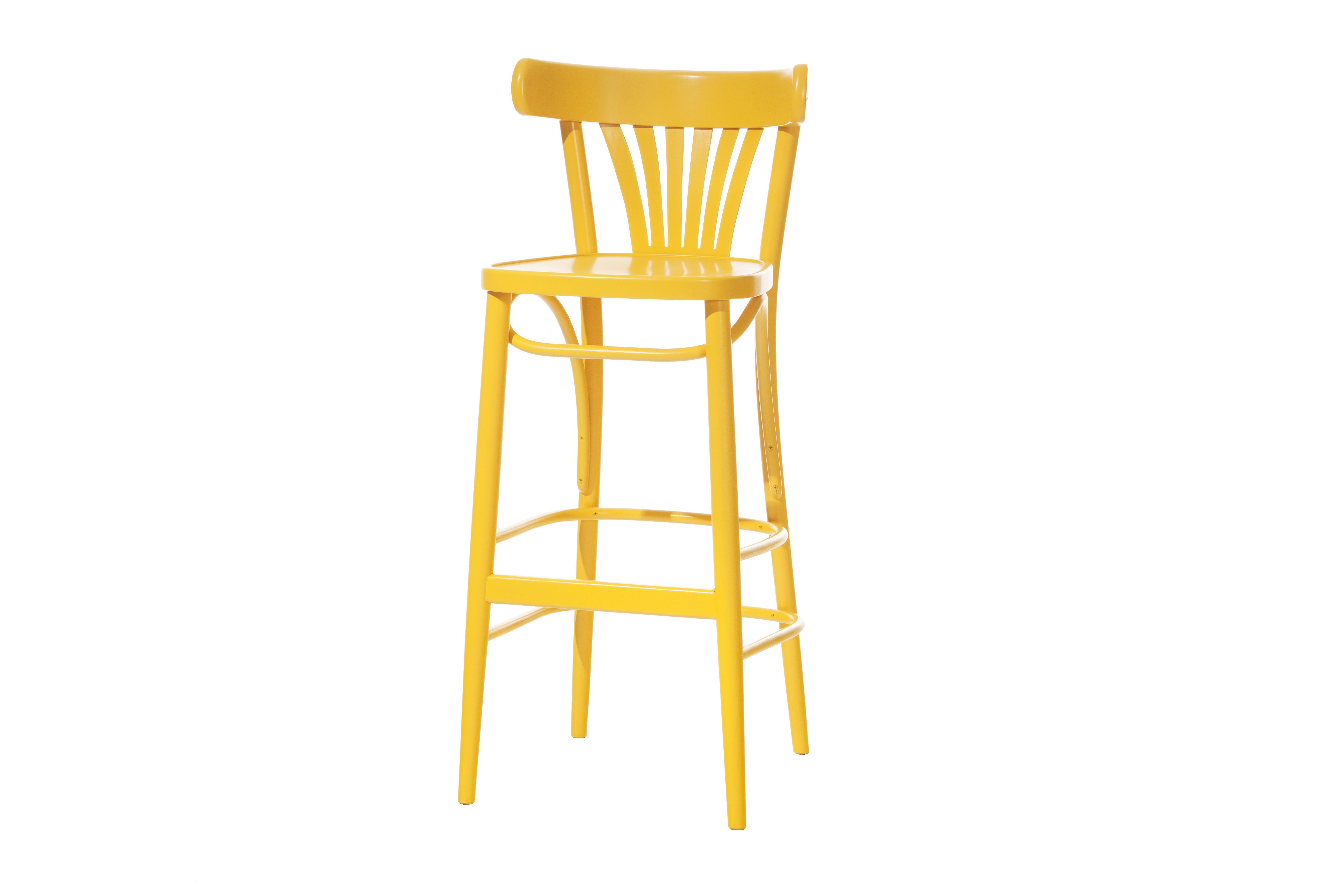 Scaun de bar din lemn de fag 56 Yellow