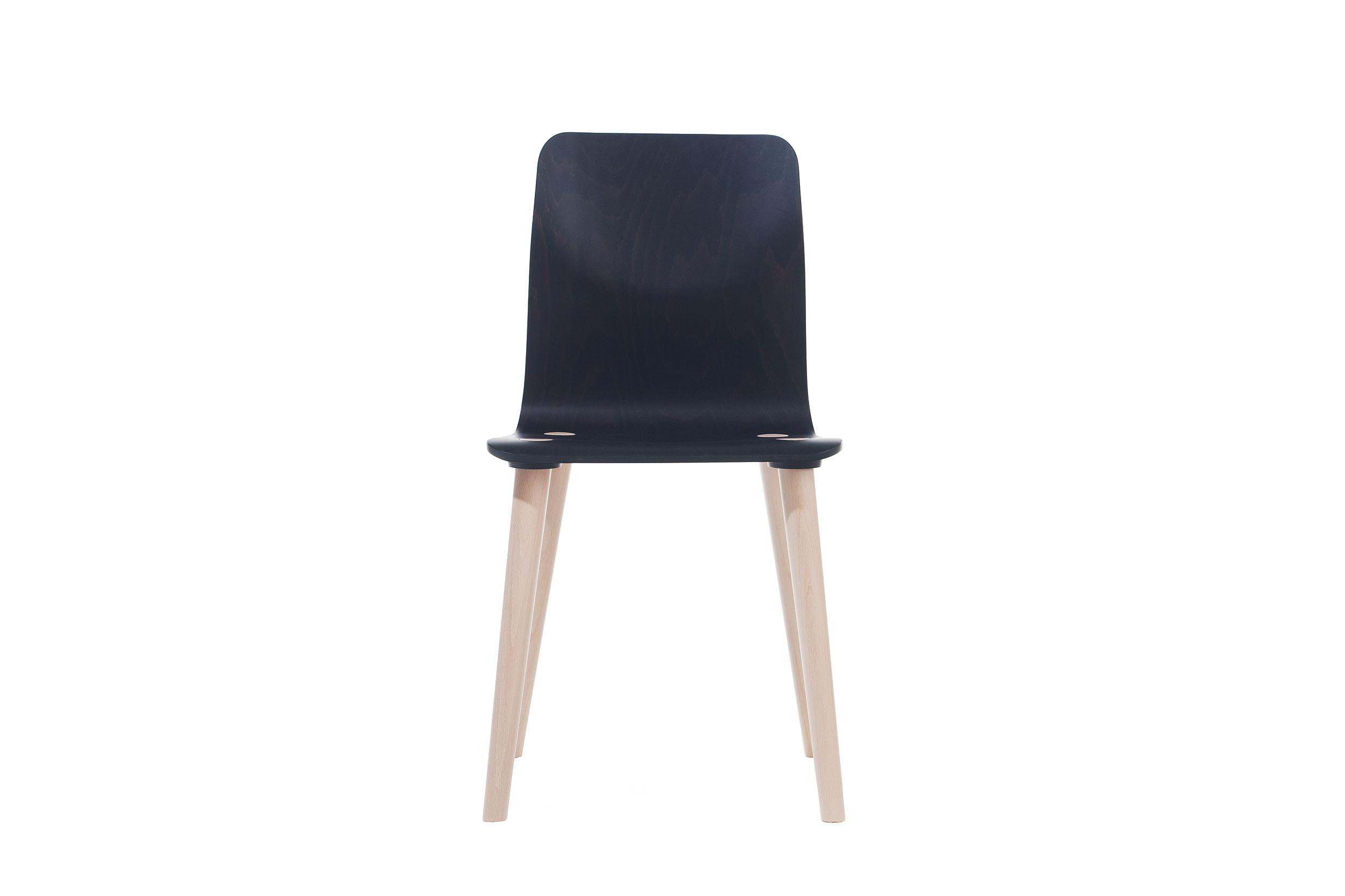 Scaun din lemn de fag Malmo Black