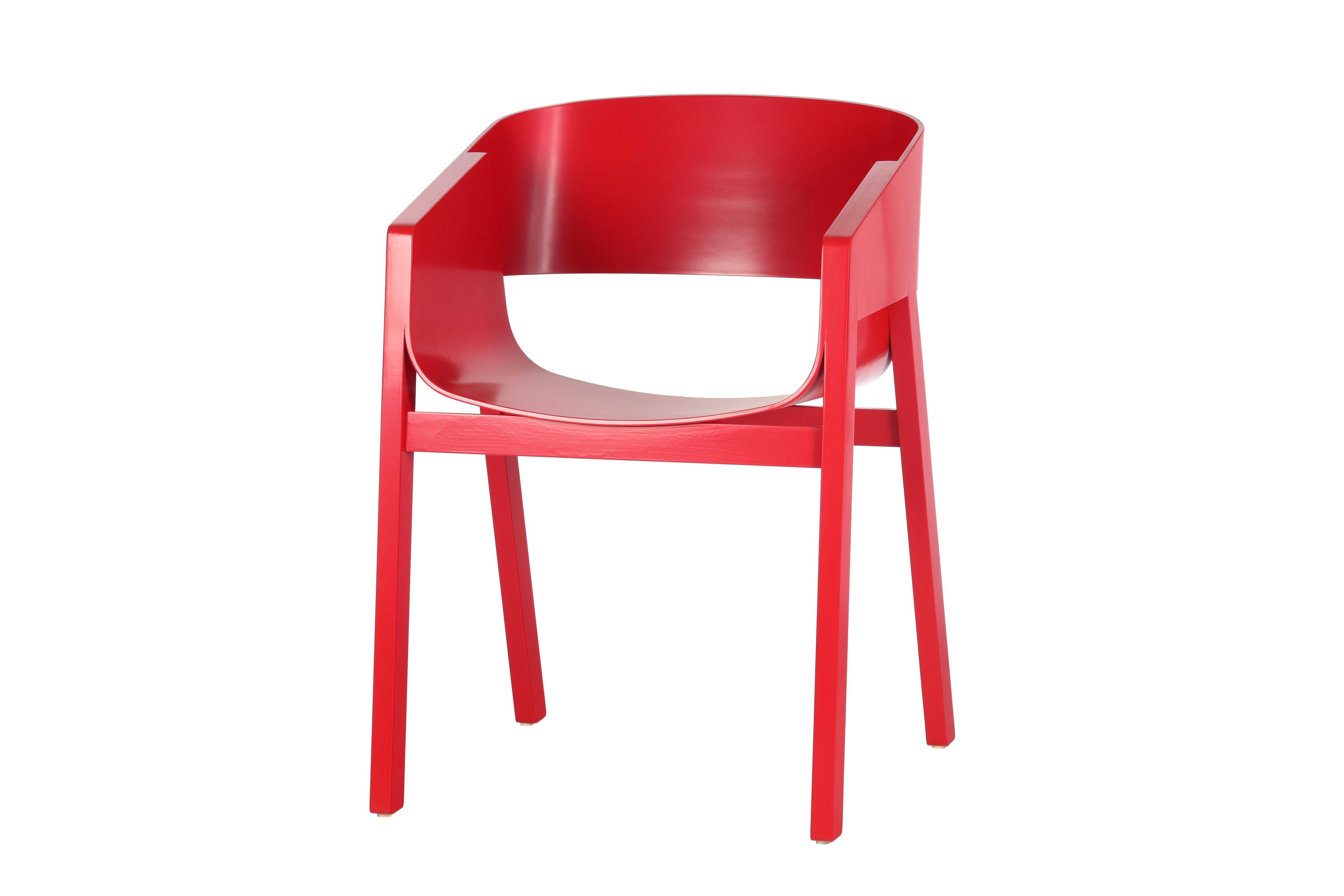 Scaun din lemn de stejar Merano Red