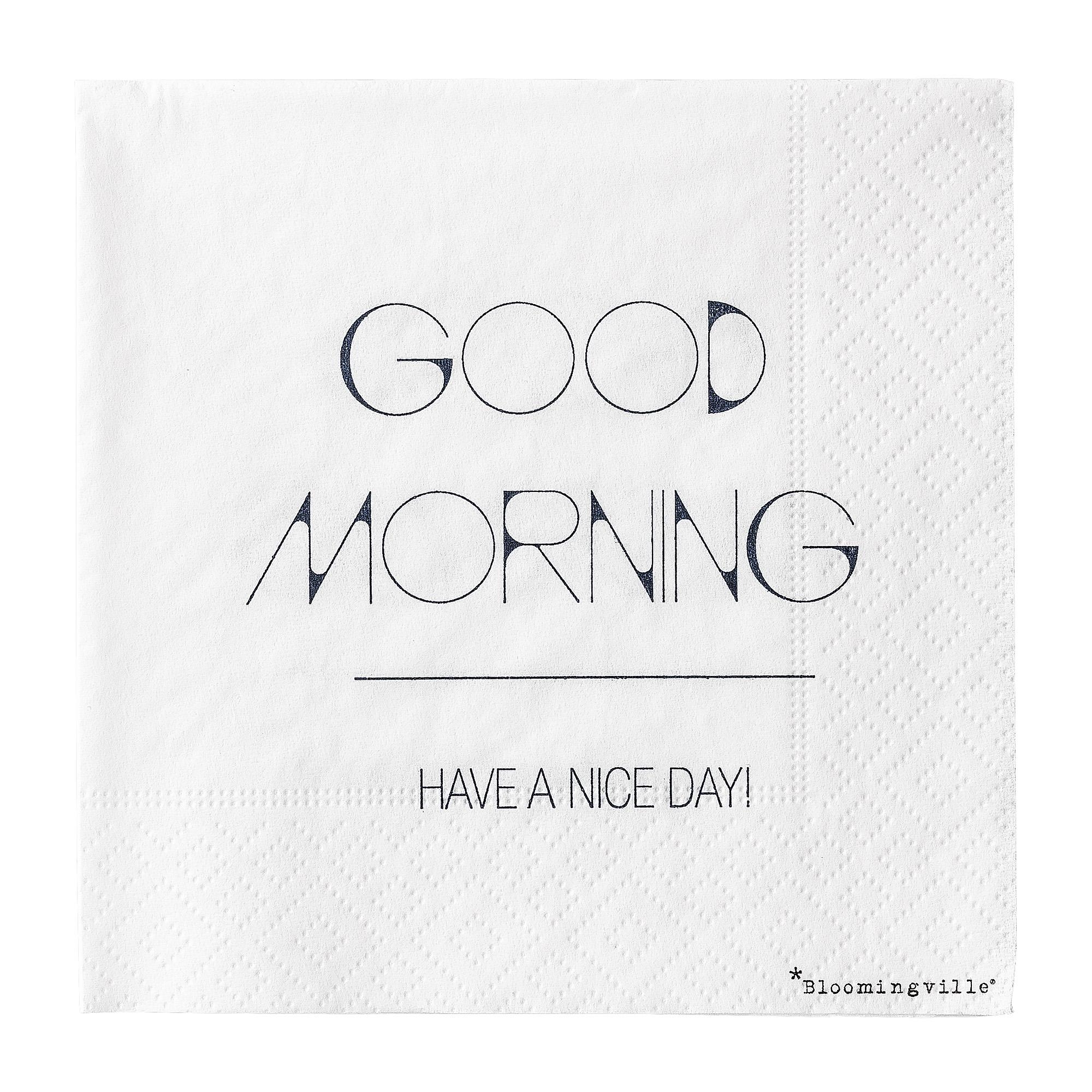 Pachet Servetele Good Morning... Bleumarin  L25xl25 Cm  20 Buc/pachet