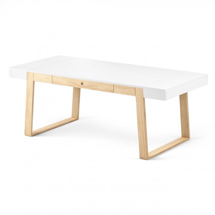 Masa Magh Oak White, L198xl100xh75 cm