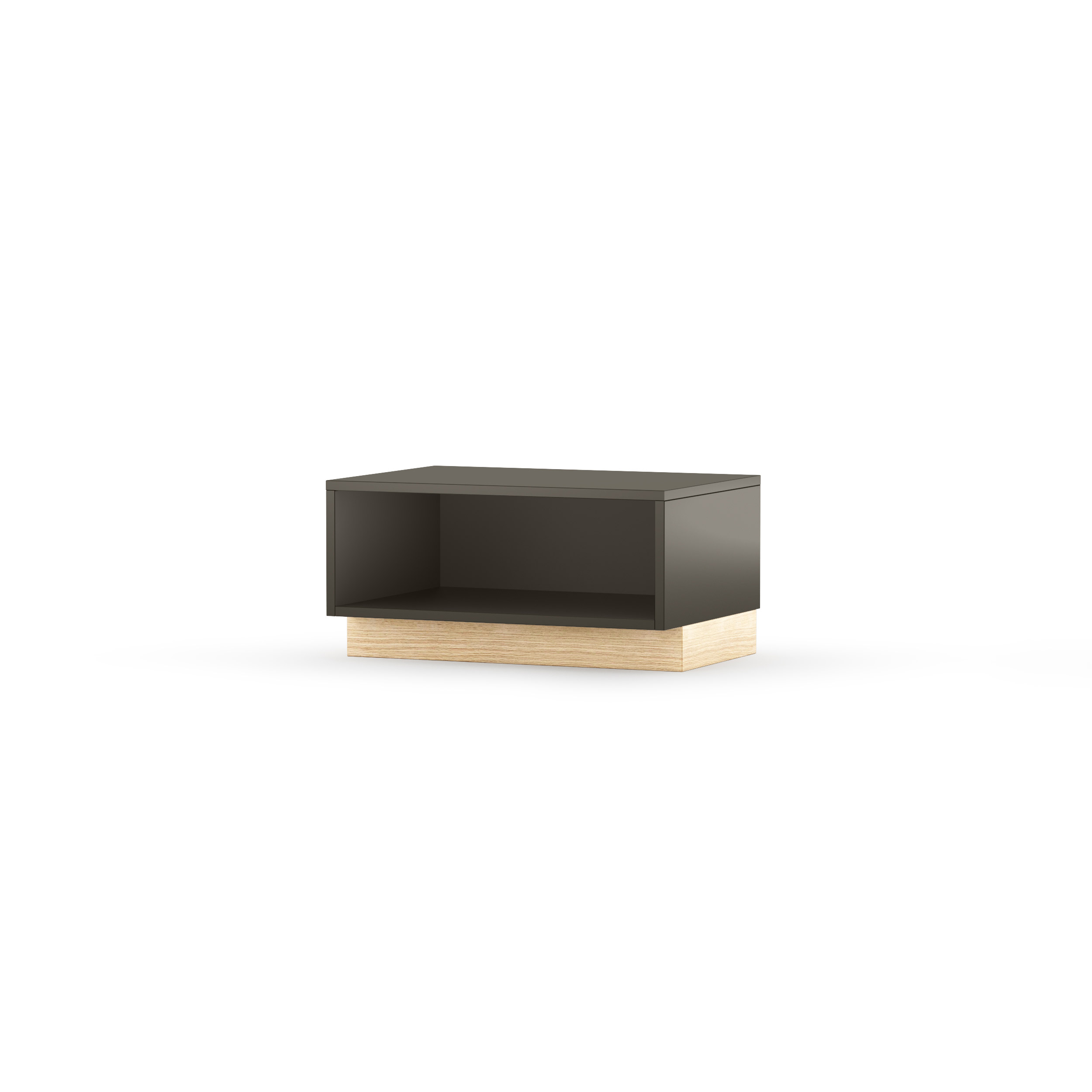 Comoda Tv Nook Open Oak Graphite  L65xl32xh47 Cm