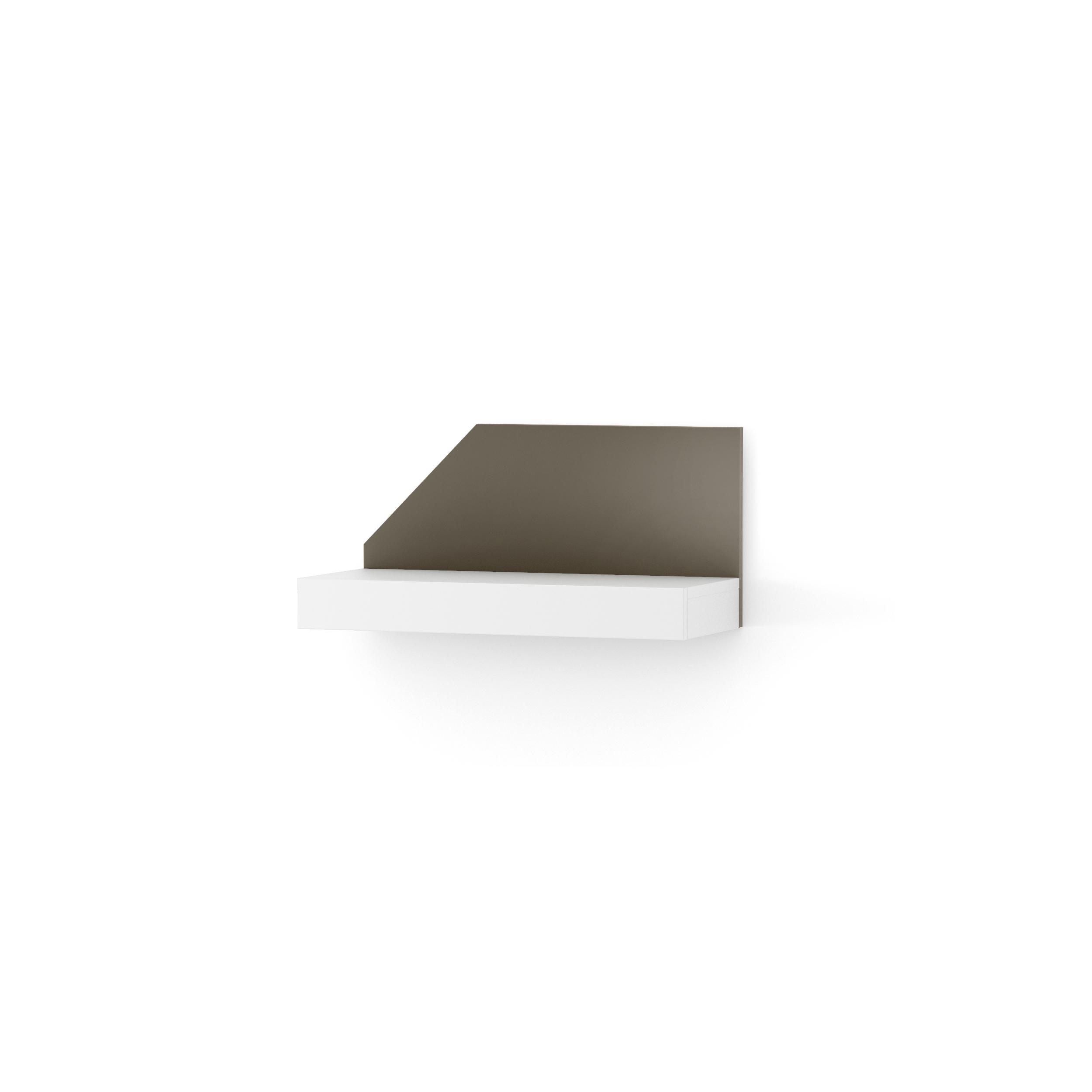 Etajera Nook Left White/graphite  L65xl29xh32 Cm
