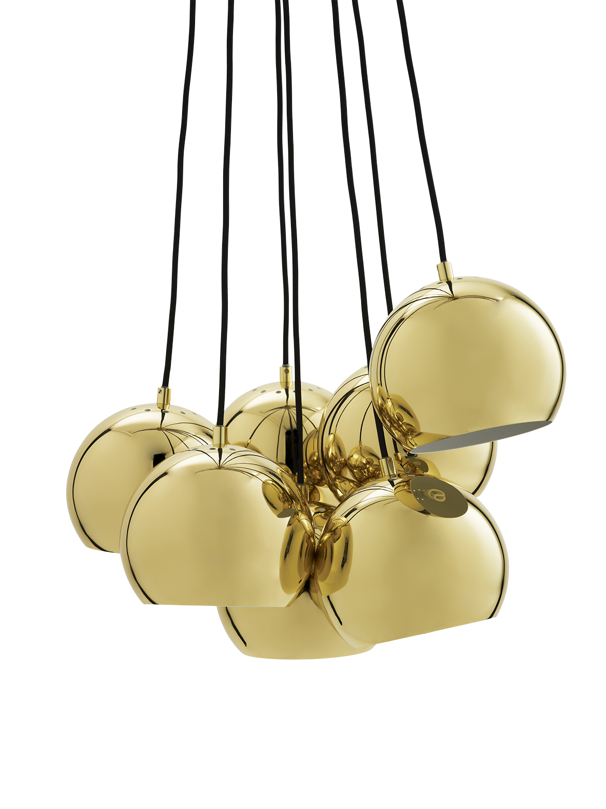 Lustra Ball Multi Brass Glossy