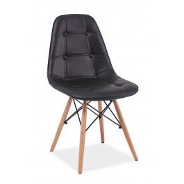 Scaun din lemn tapitat Axel Black