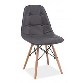 Scaun din lemn tapitat Axel Grey
