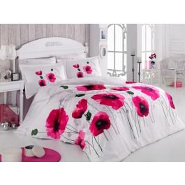 Lenjerie de pat Satin Poppy Flower Pink