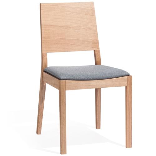 Scaun tapitat din lemn de stejar Lyon Natural 514