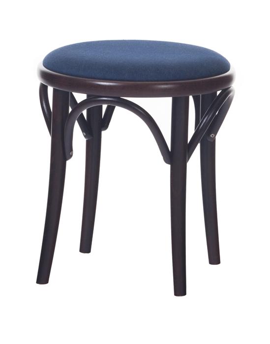 Scaun taburet tapitat din lemn de fag 60 Wenge / Blue
