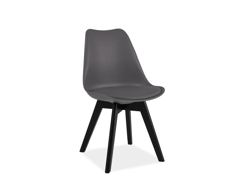 Scaun din lemn Kris II Grey/Black