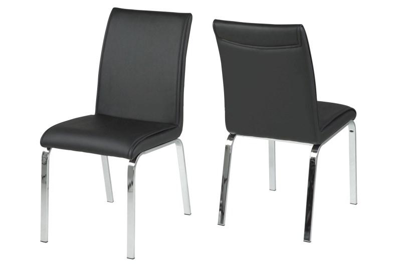 Set 4 scaune din metal Leonora-B Negru ( S )