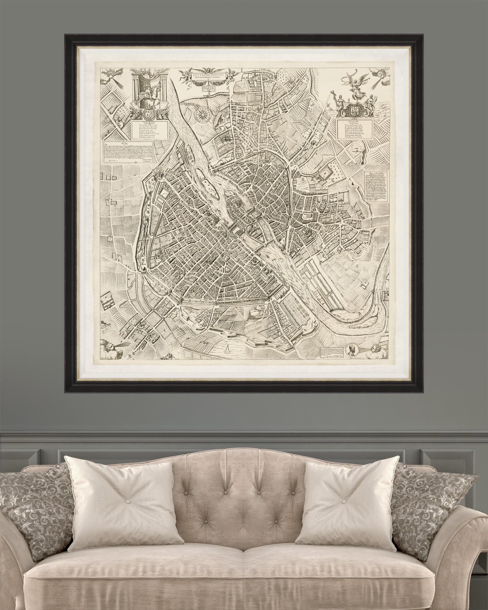 Tablou Framed Art Paris Map 1609