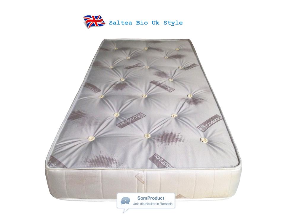Saltea ortopedica cu arcuri si lana BIO UK Style, 24 cm