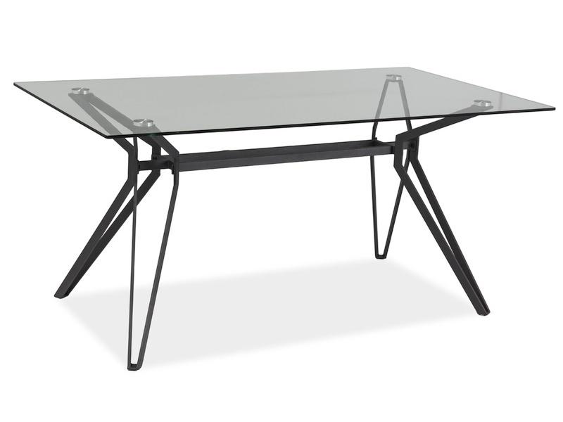 Masa Din Sticla Si Metal Tivoli Grey  L160xl90xh76