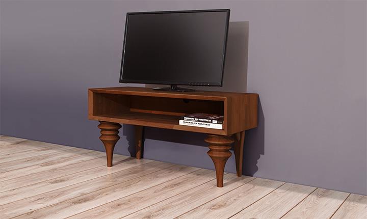 Comoda TV din lemn masiv de fag Parys RTV nuc