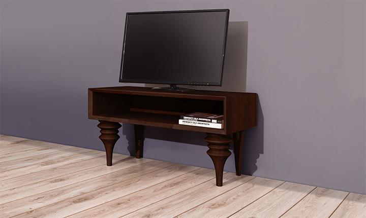 Comoda TV din lemn masiv de fag Parys RTV wenge