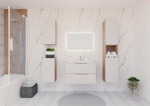 Baie  moderna in culori calde (8 m²)