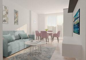Living Modern  in culori pastelate (17.2 m²)