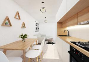 Bucatarie in Stil Scandinav (15 m²)