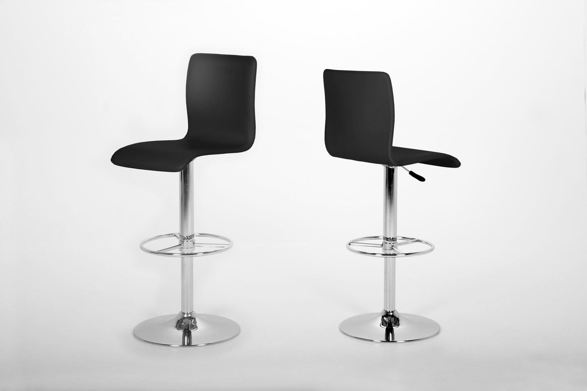 poze cu Set 2 scaune de bar Aze Black