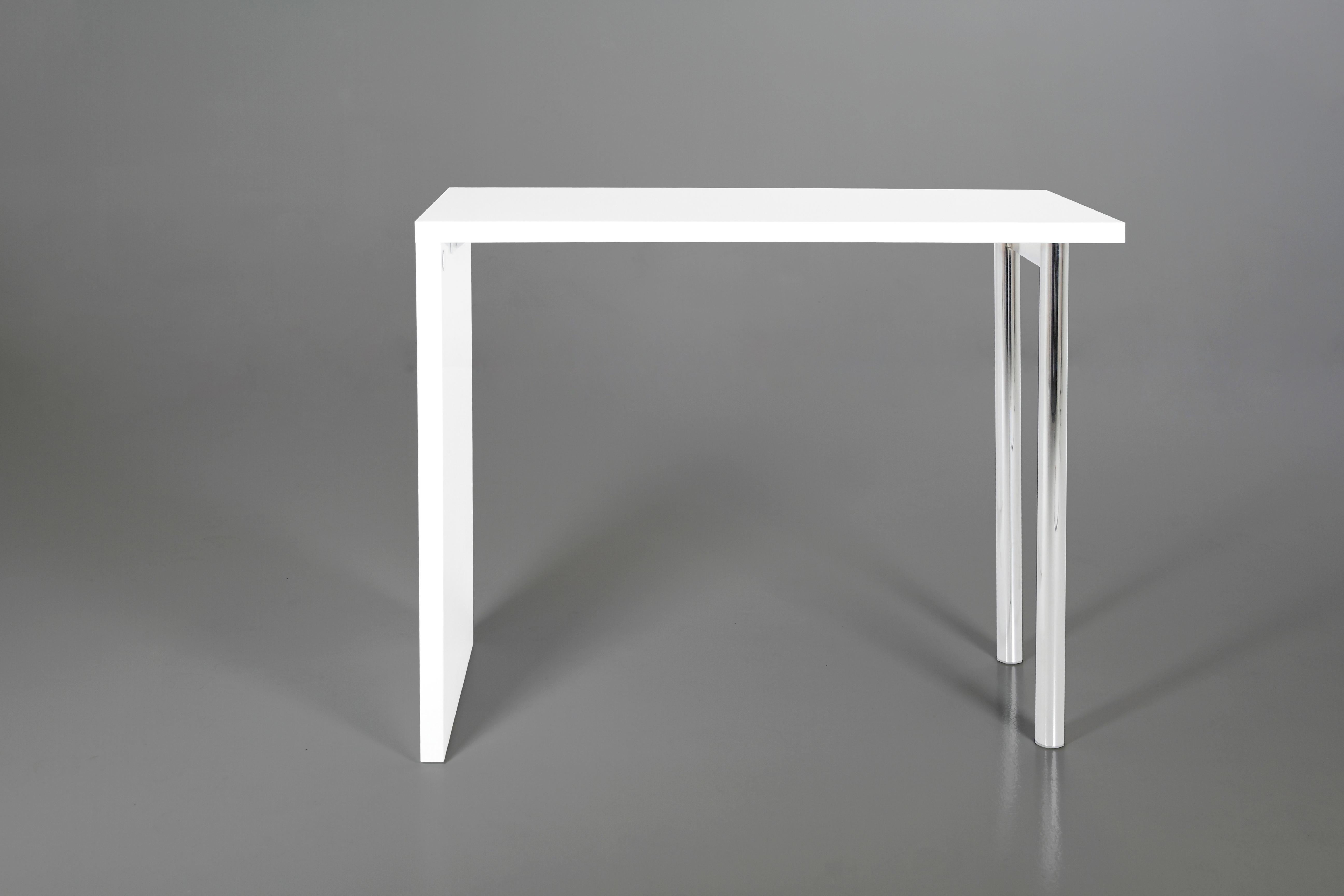 Masa de bar Budgie White, L120xl60xh105 cm