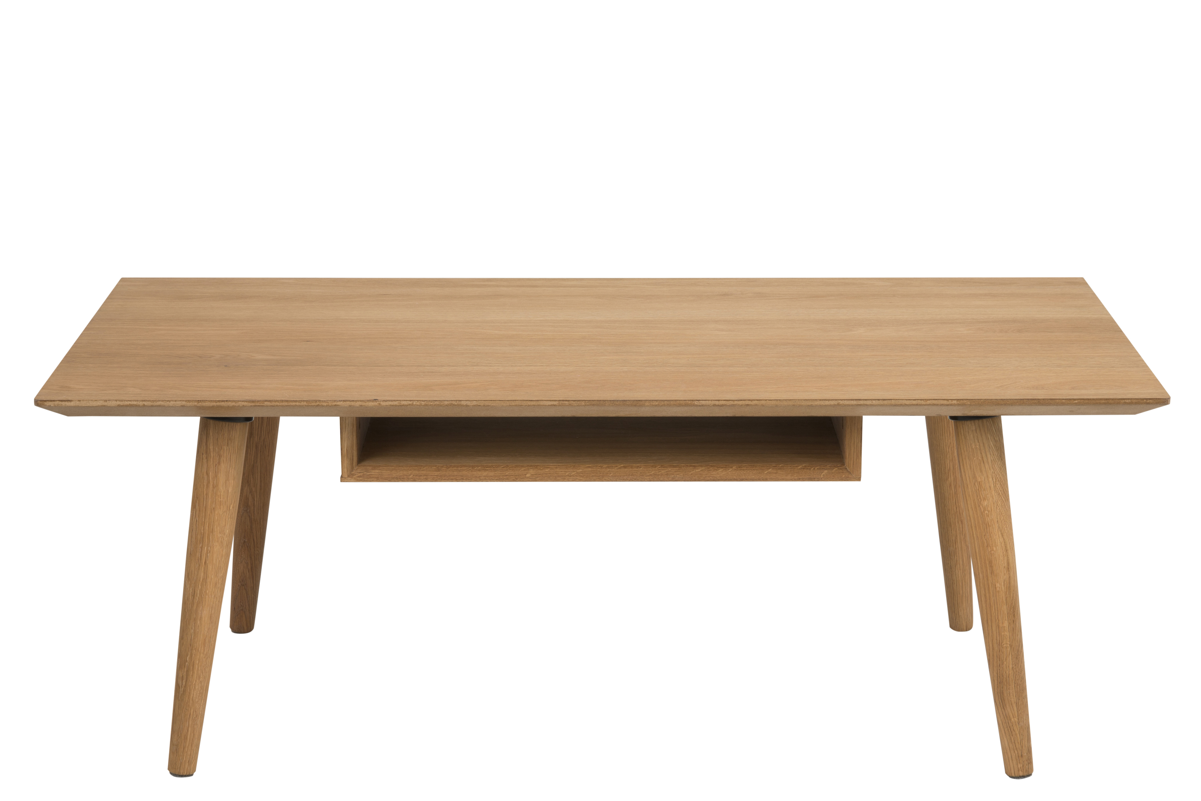 Masa de cafea din lemn si furnir Century Oak, L120xl60xh46 cm