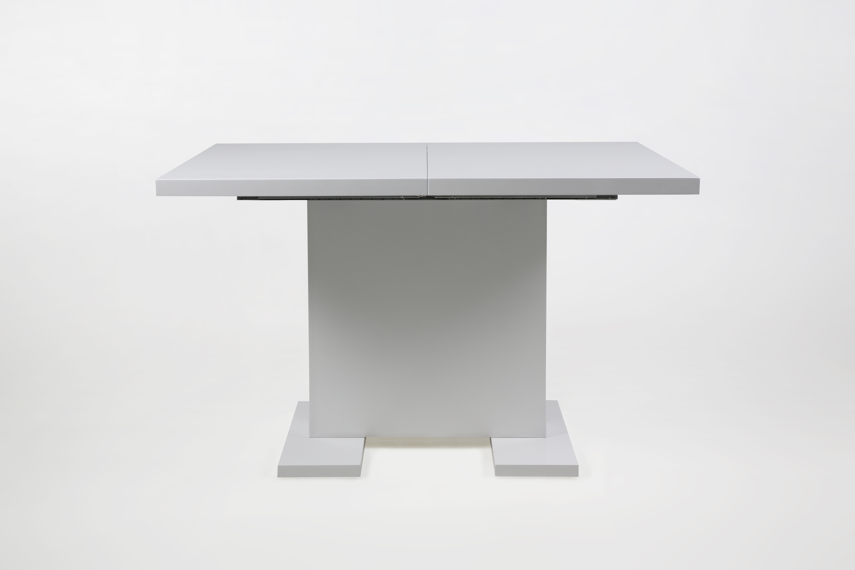 Masa extensibila din MDF Gust White, L120-160xl80xh76 cm