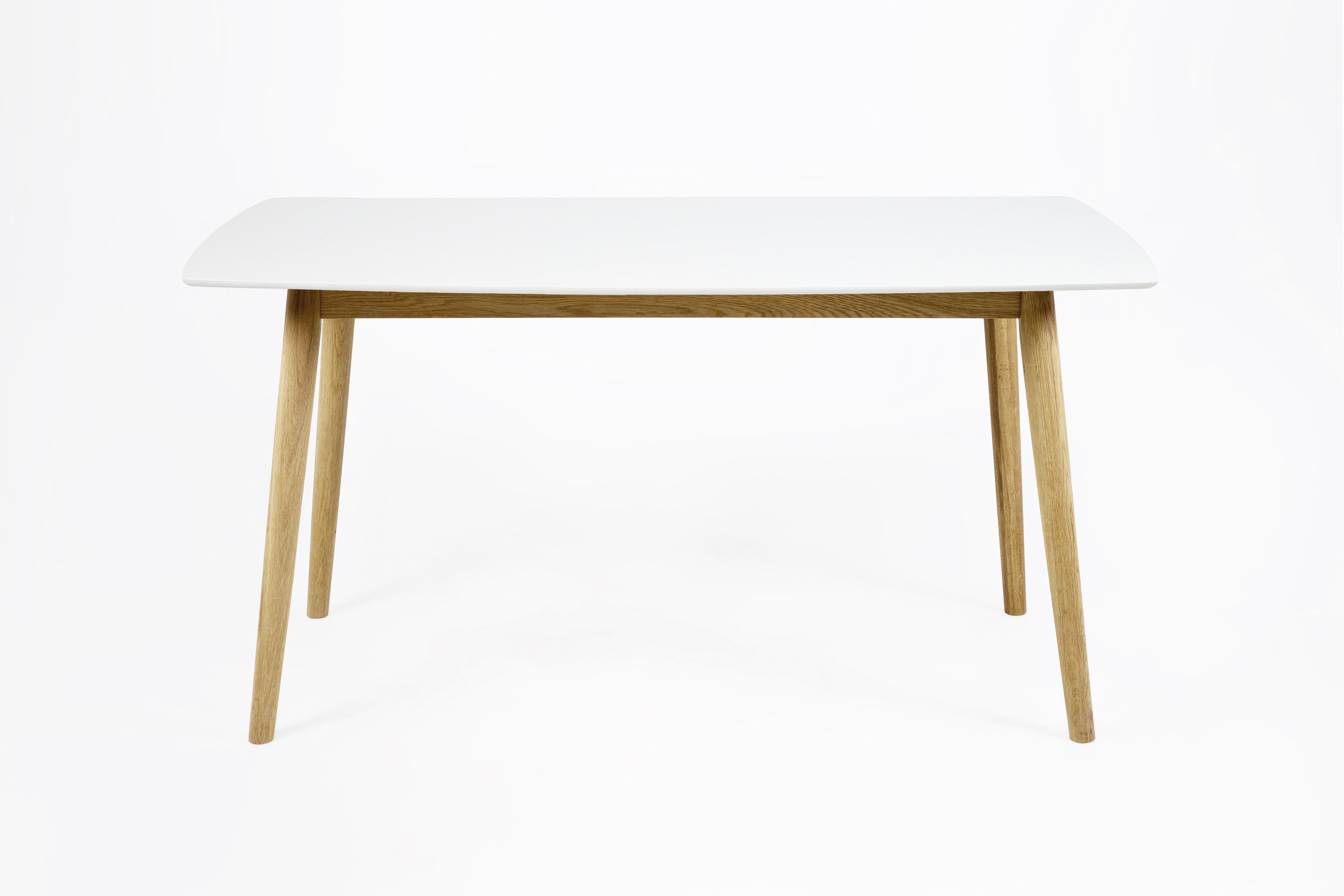 Masa din furnir si lemn Nagano Dining White/Oak L150xl80xh755 cm
