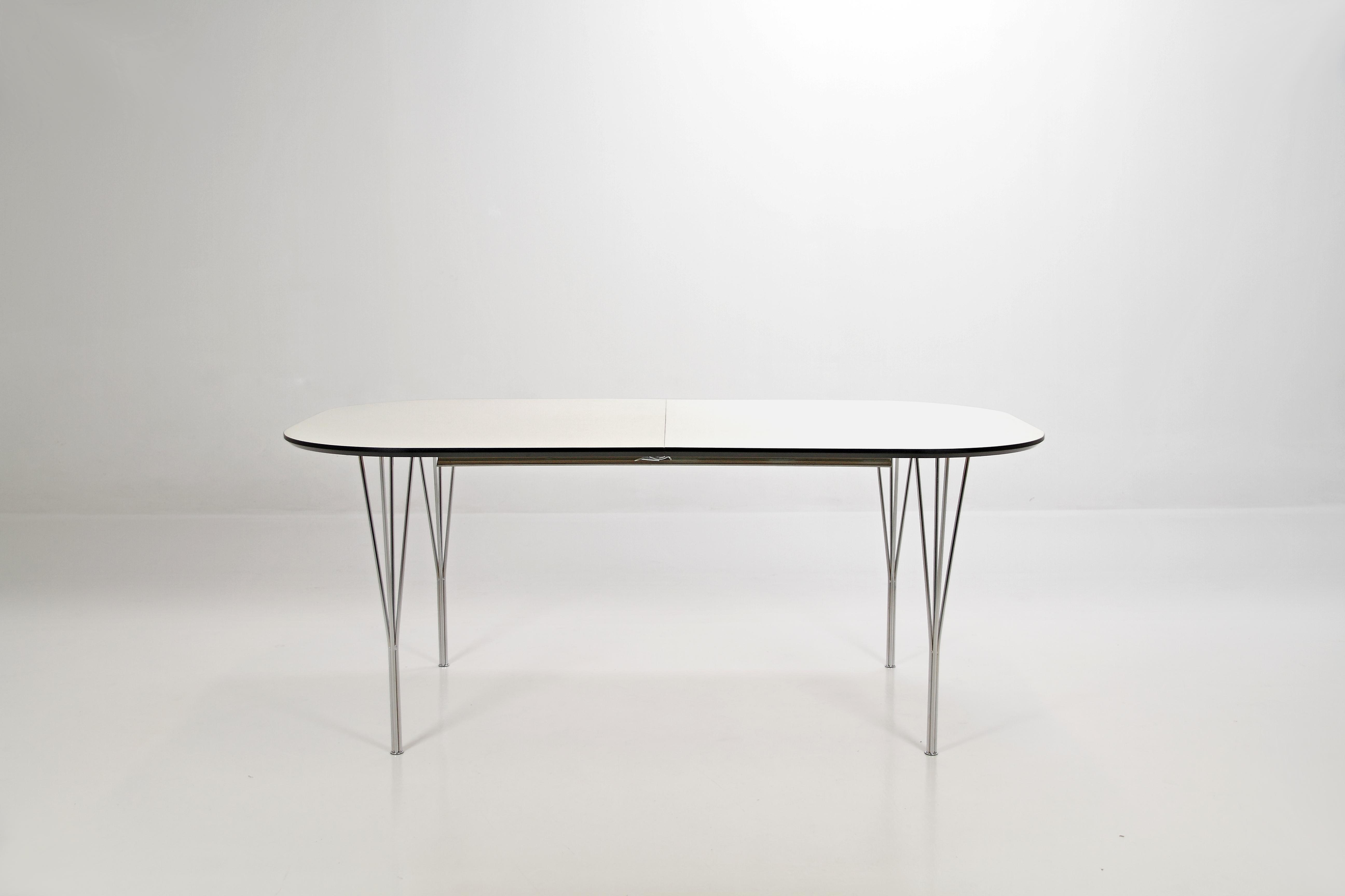 Masa extensibila Pippolo Dining White/Chrome, L180-380xl100xh75 cm