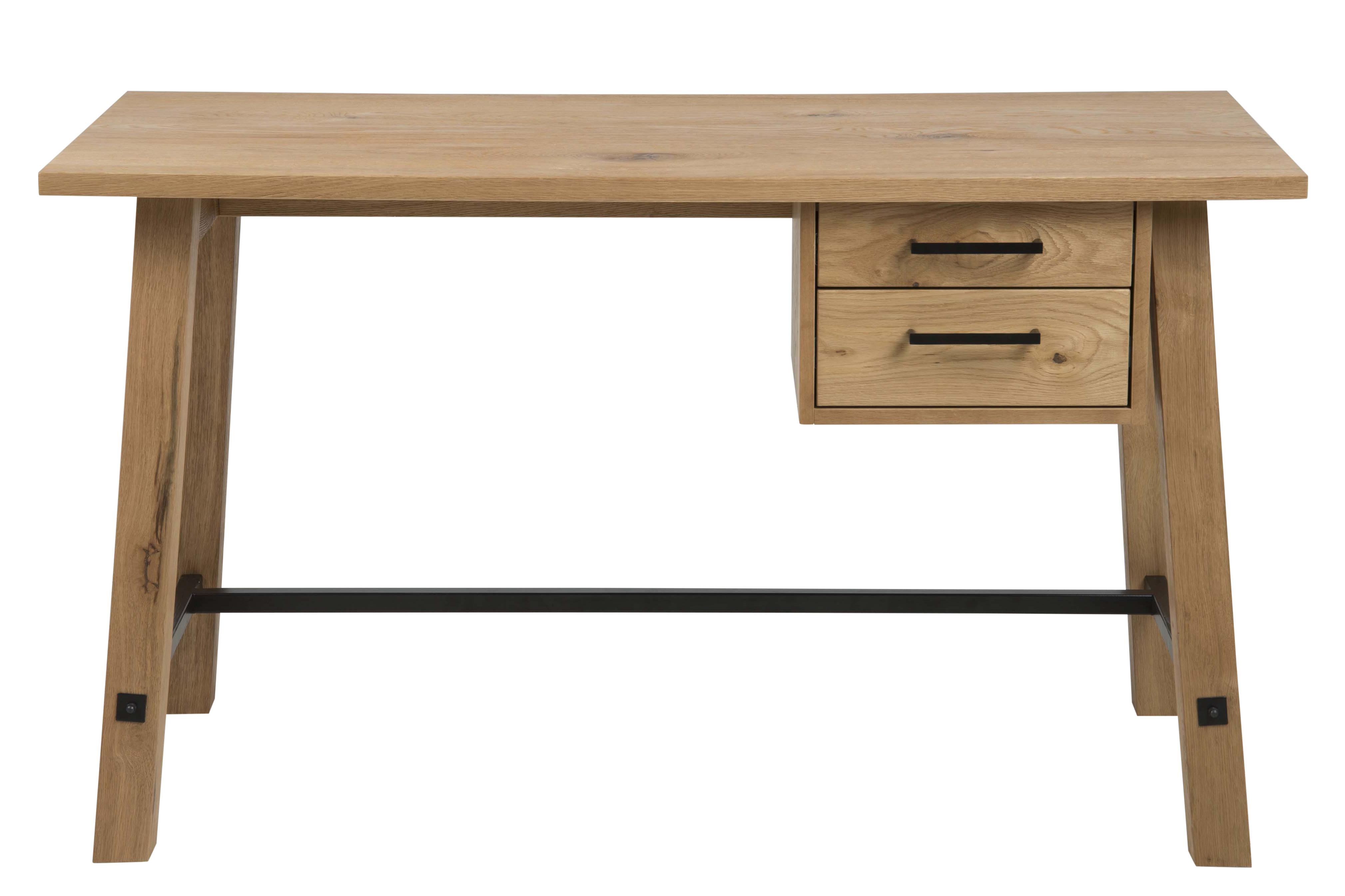 poze cu Masa de birou din lemn si furnir Stockholm, L130xl60xh75 cm