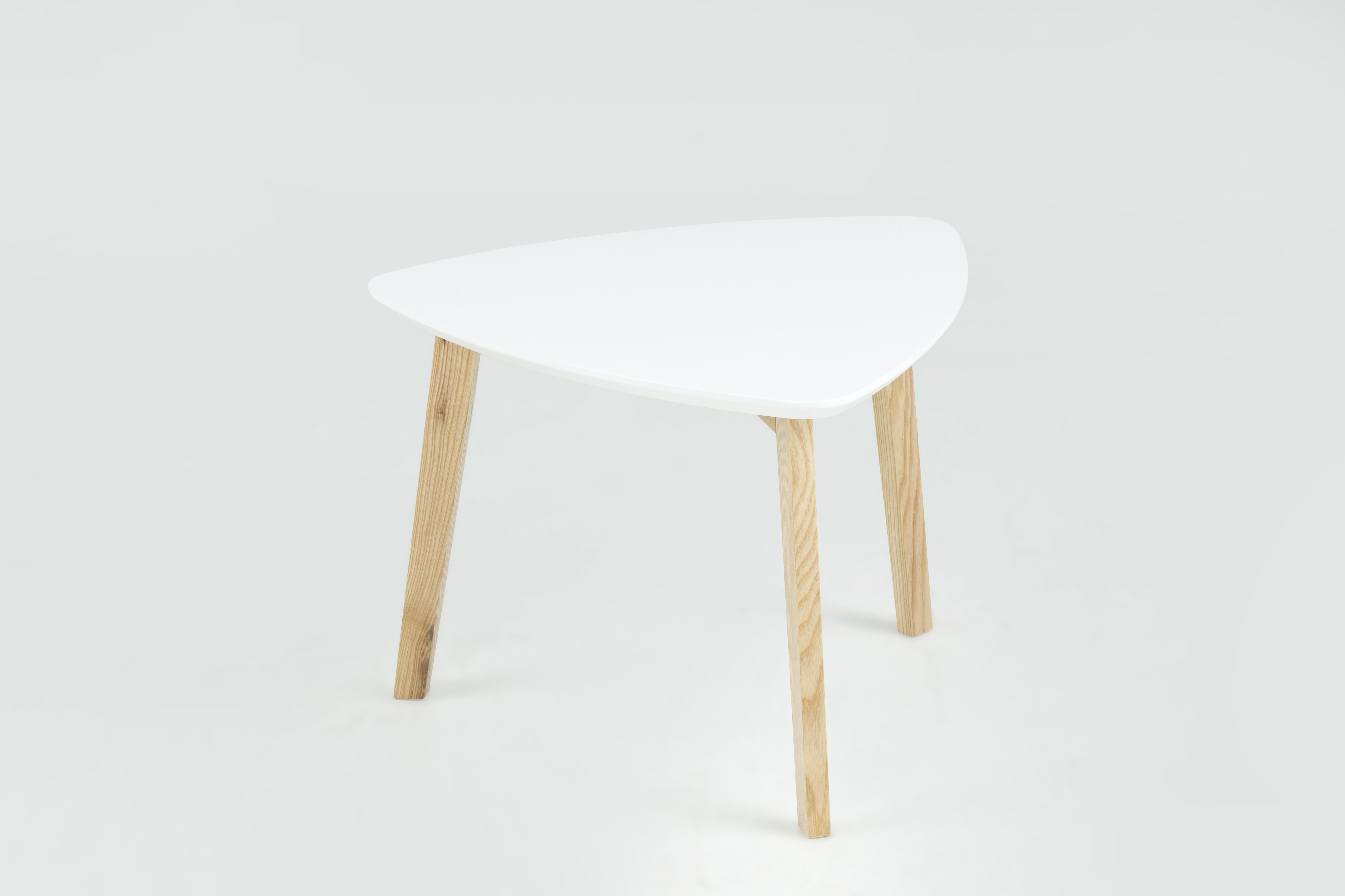 Masuta din lemn si MDF Vitis Small White, L50xl50xh36 cm