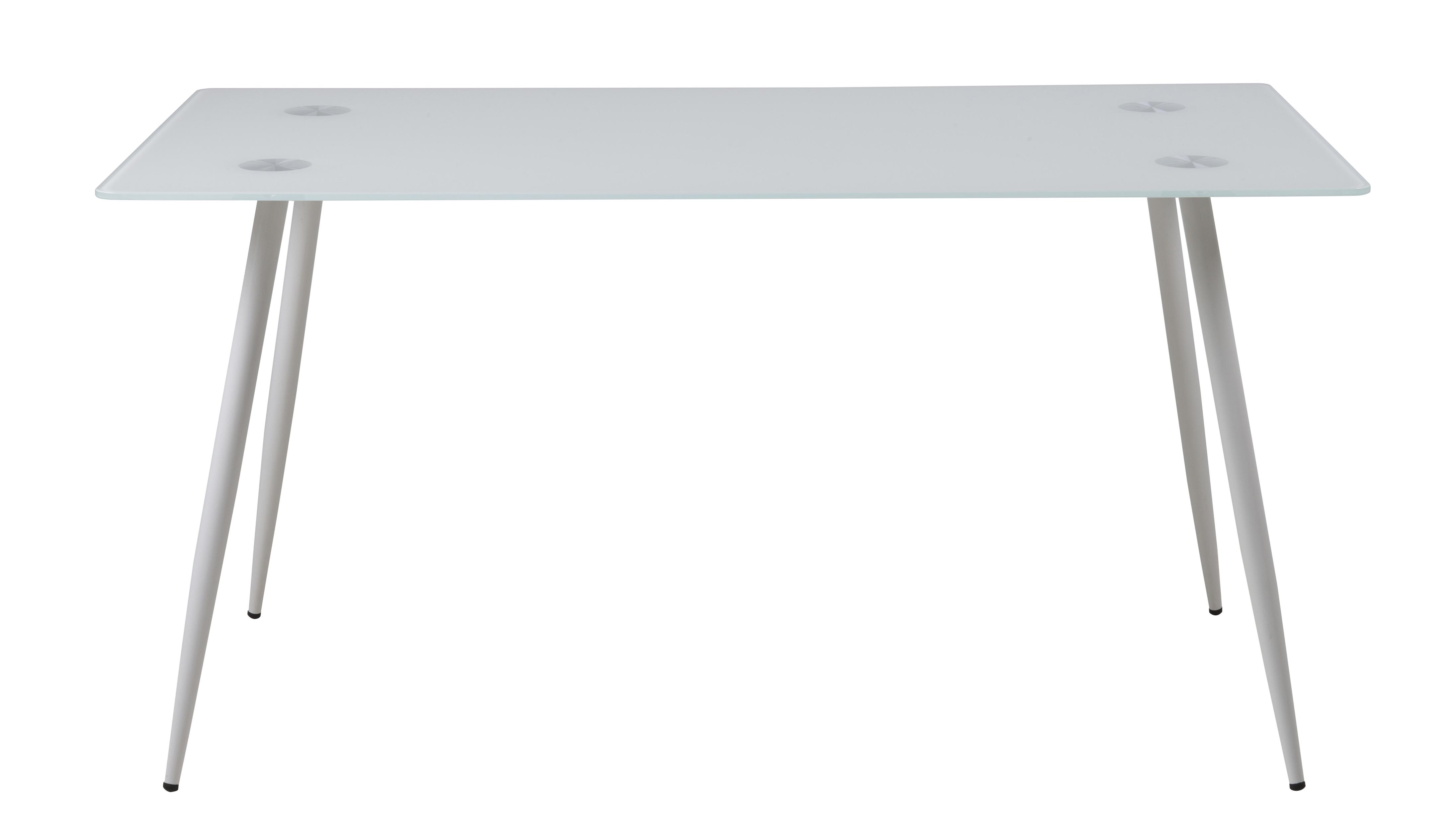 Masa din metal si sticla Wilma, L150xl80xh75 cm