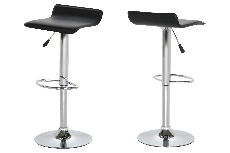 Set 2 scaune de bar tapitate Dan Black