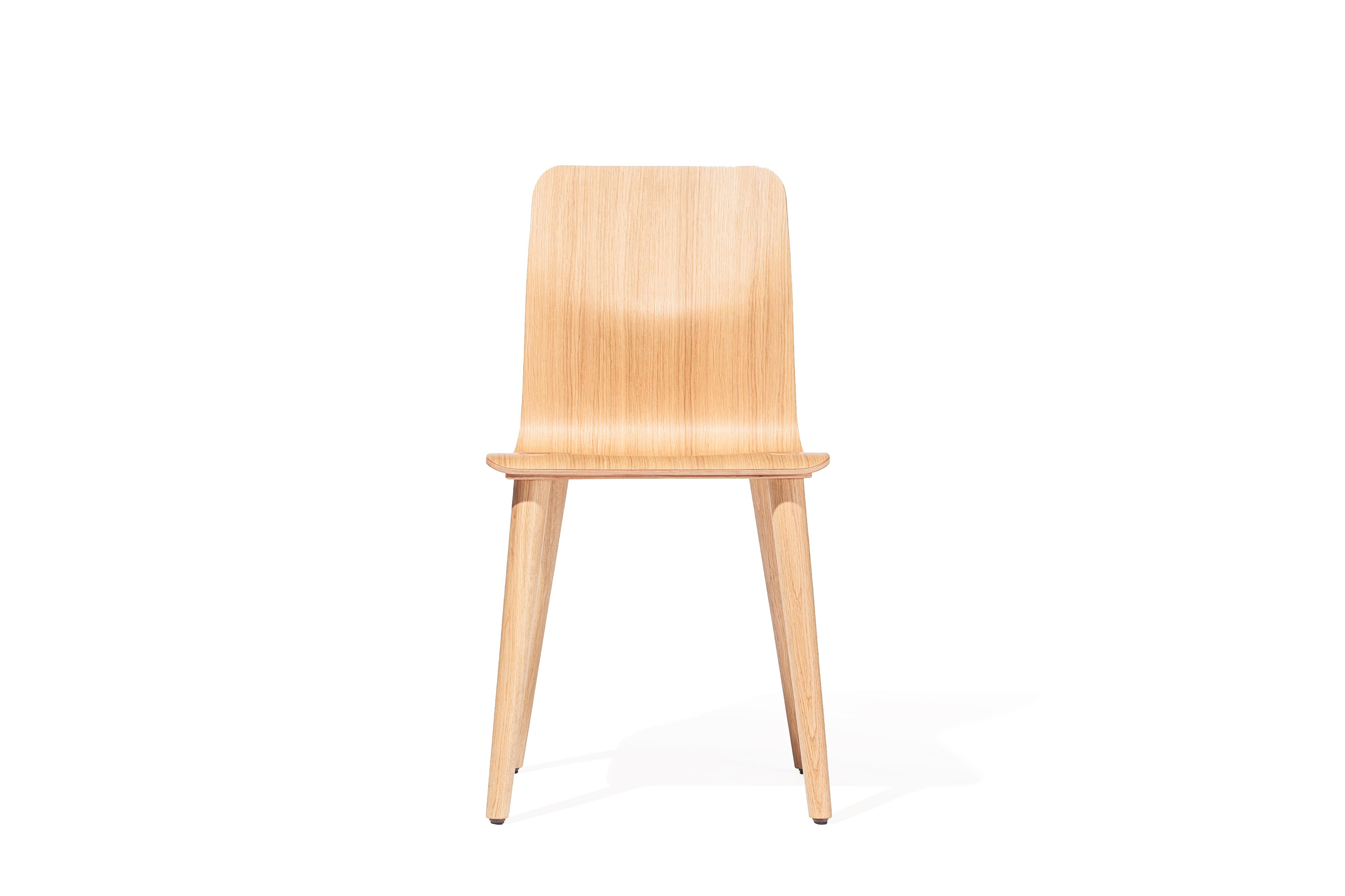 Scaun din lemn de stejar Malmo Natural, l43xA39xH82 cm