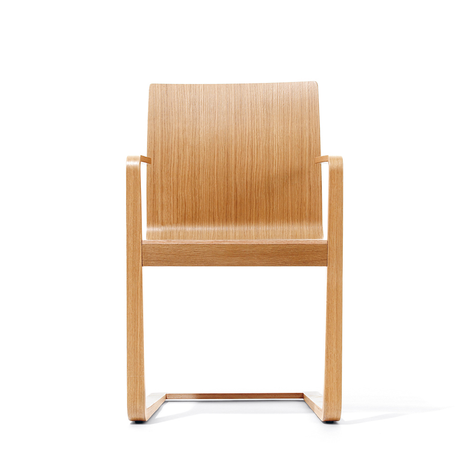 Scaun din lemn de stejar Mojo Natural, l54xA57xH89,5 cm
