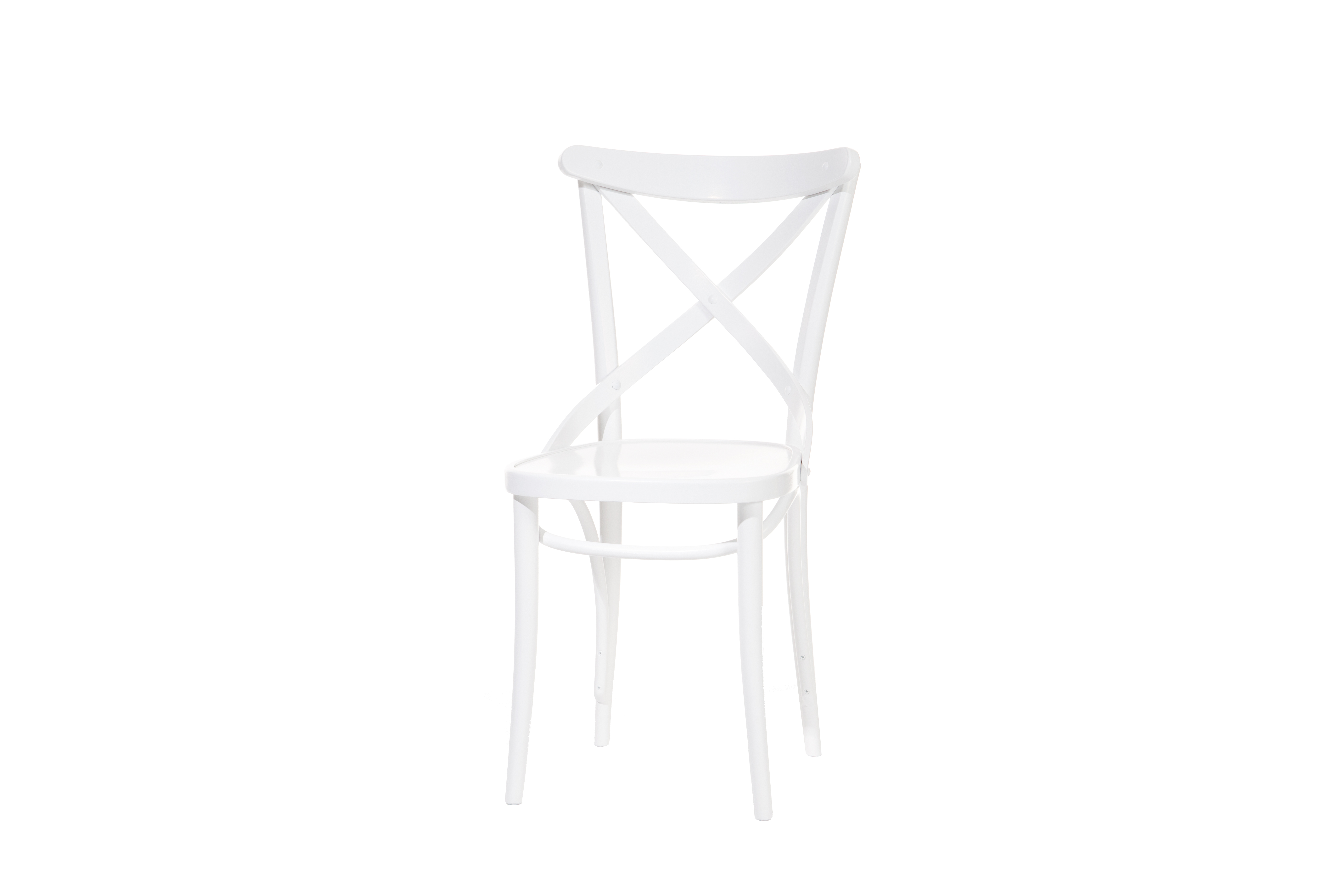 Scaun din lemn de fag 150 White, l45xA51xH86,5 cm