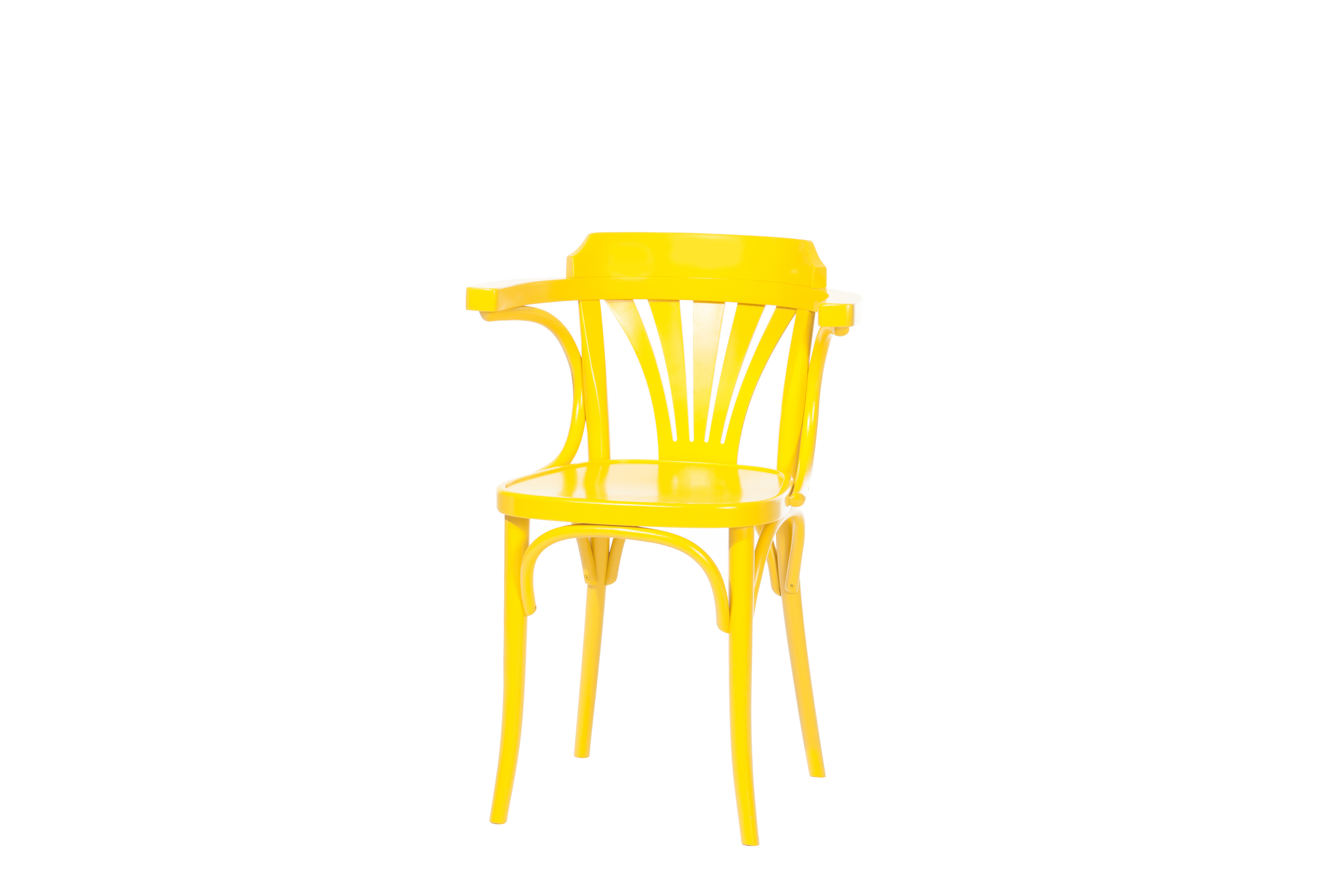 Scaun din lemn de fag 24 Yellow, l54xA48xH77 cm