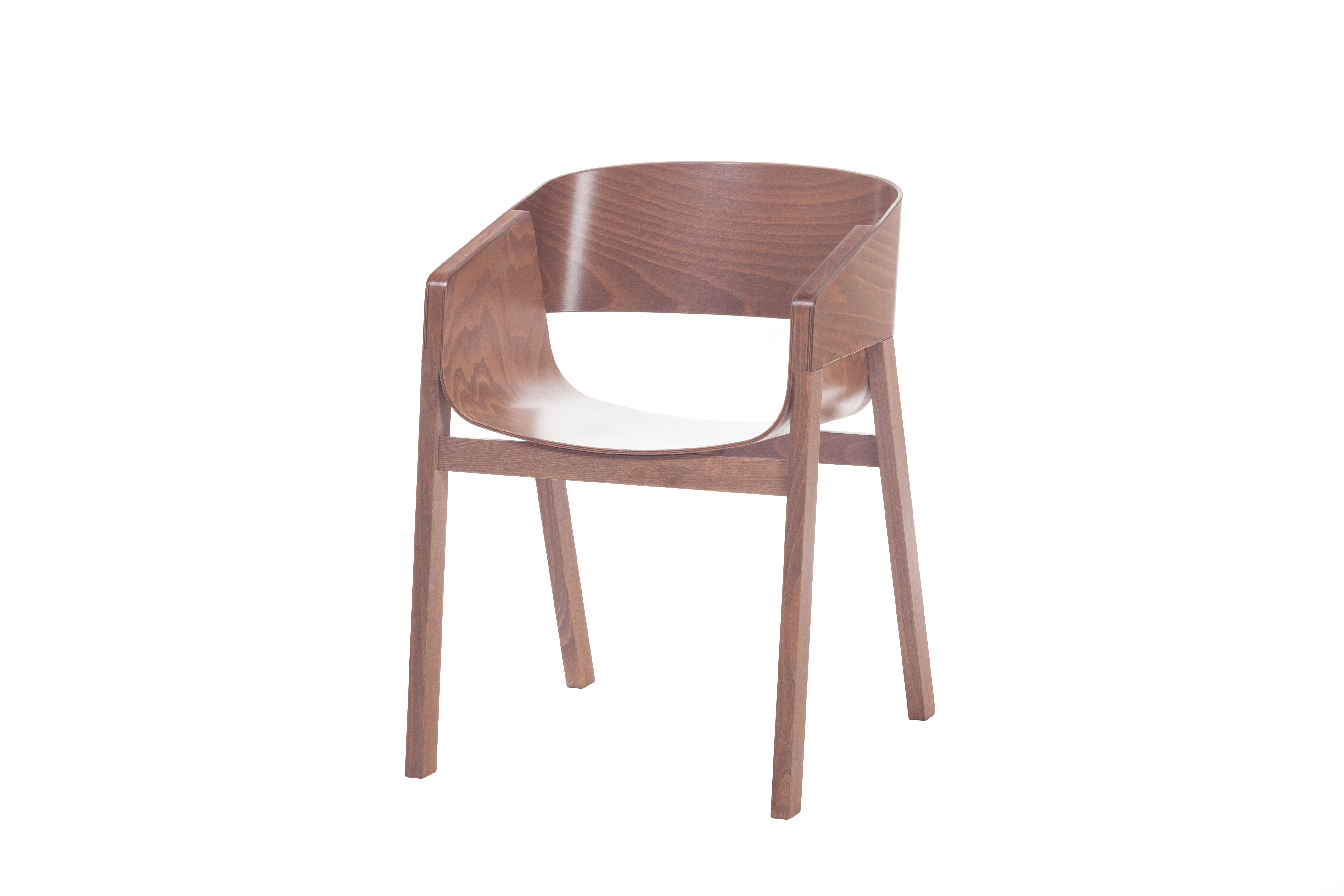 Scaun din lemn de nuc Merano Walnut l475xA39xH78 cm