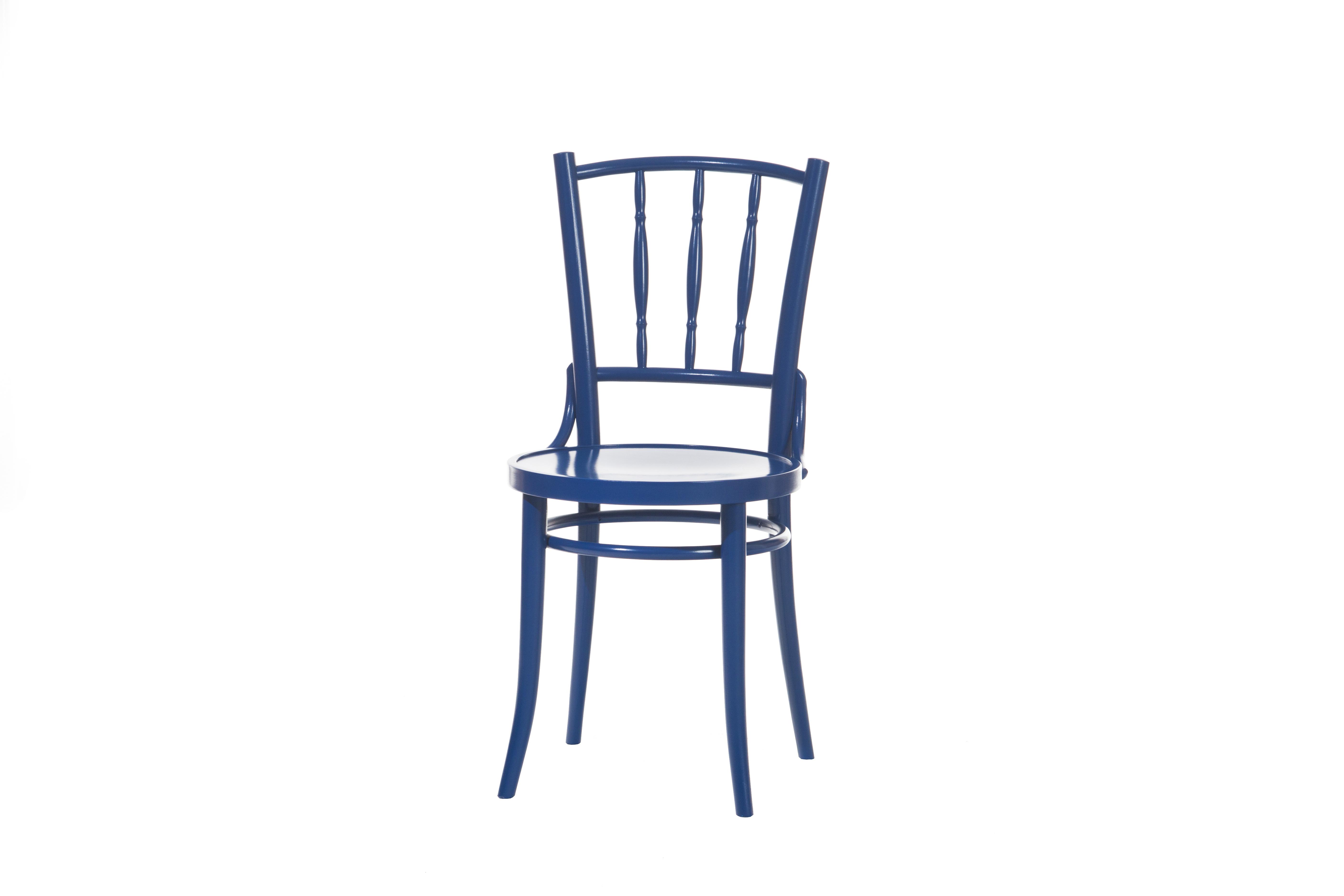 Scaun din lemn de fag Dejavu 378 Blue, l40,5xA48xH86,5 cm imagine