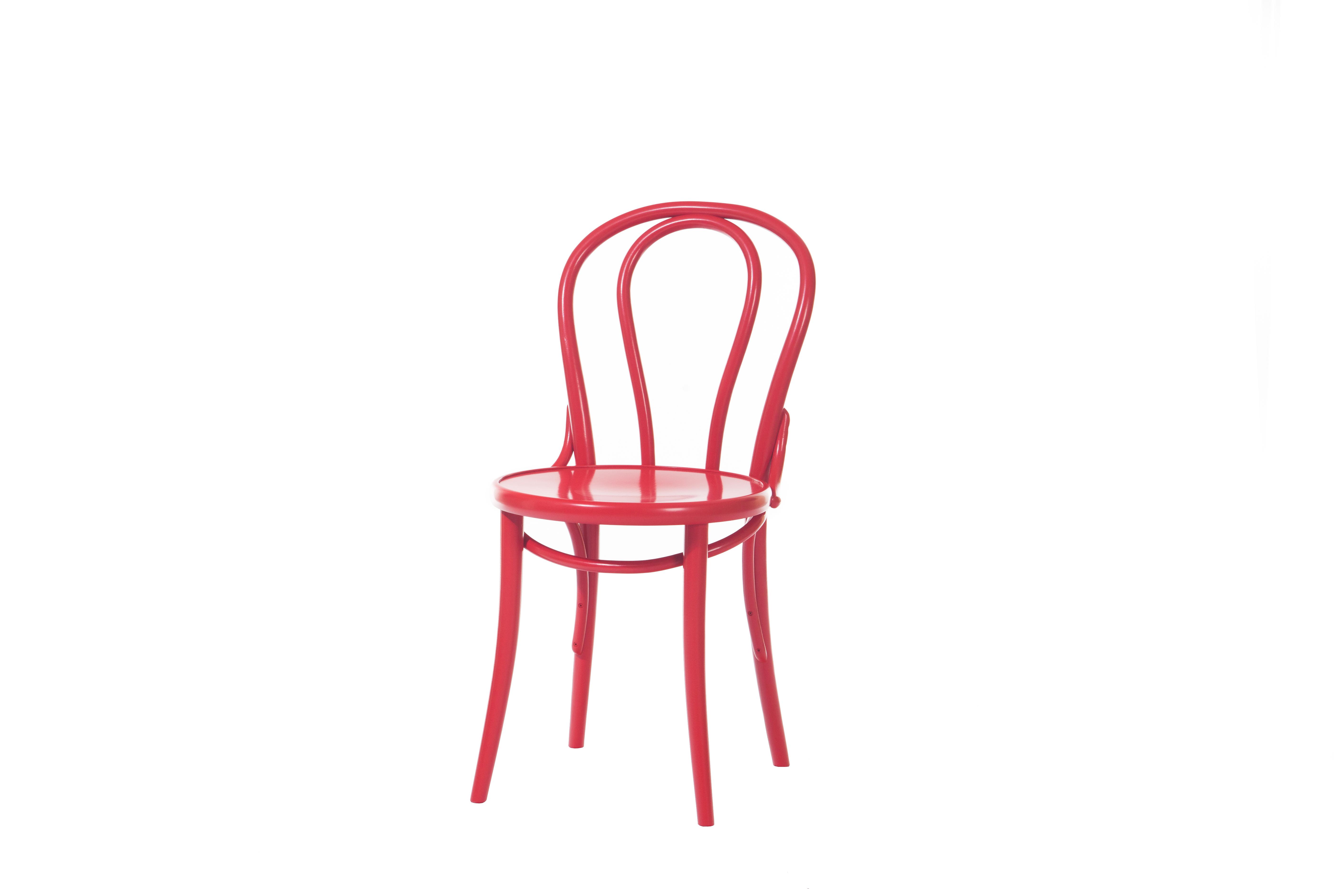 Scaun din lemn de fag 18 Red, l41xA51,5xH84 cm
