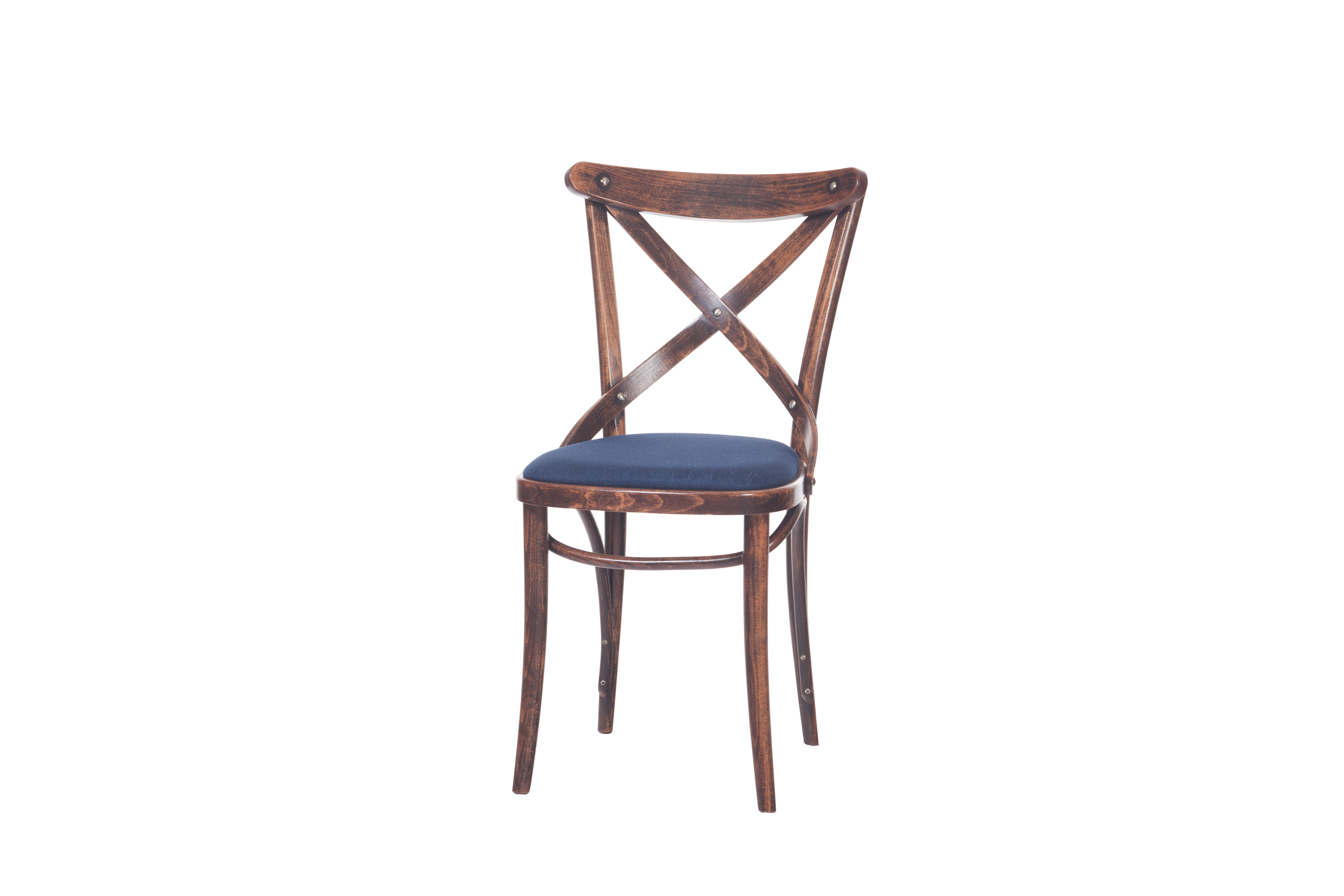 Scaun din lemn de fag, tapitat cu piele 150 Brown, l45xA51xH84,5 cm somproduct.ro