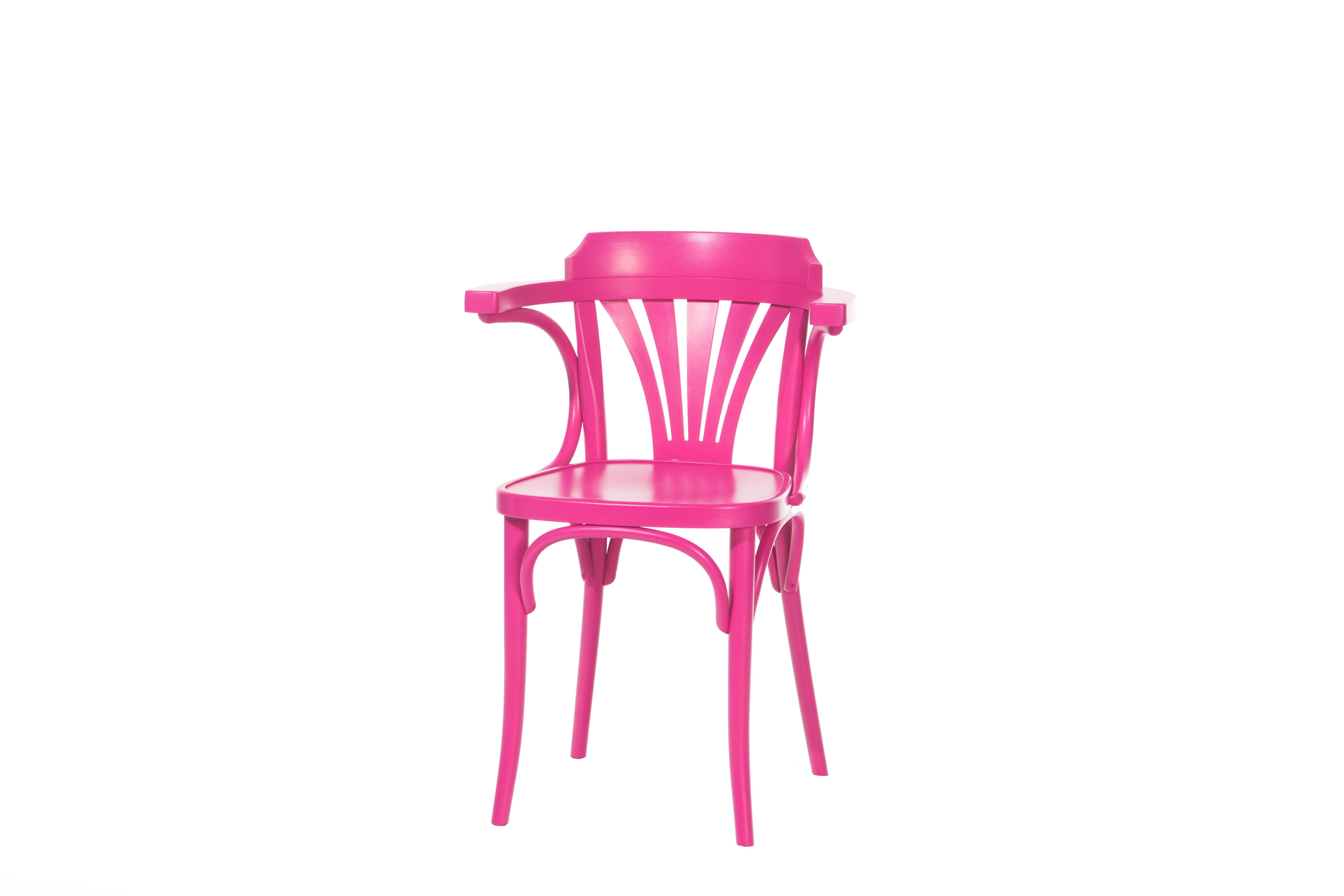Scaun din lemn de fag 24 Pink, l54xA48xH77 cm