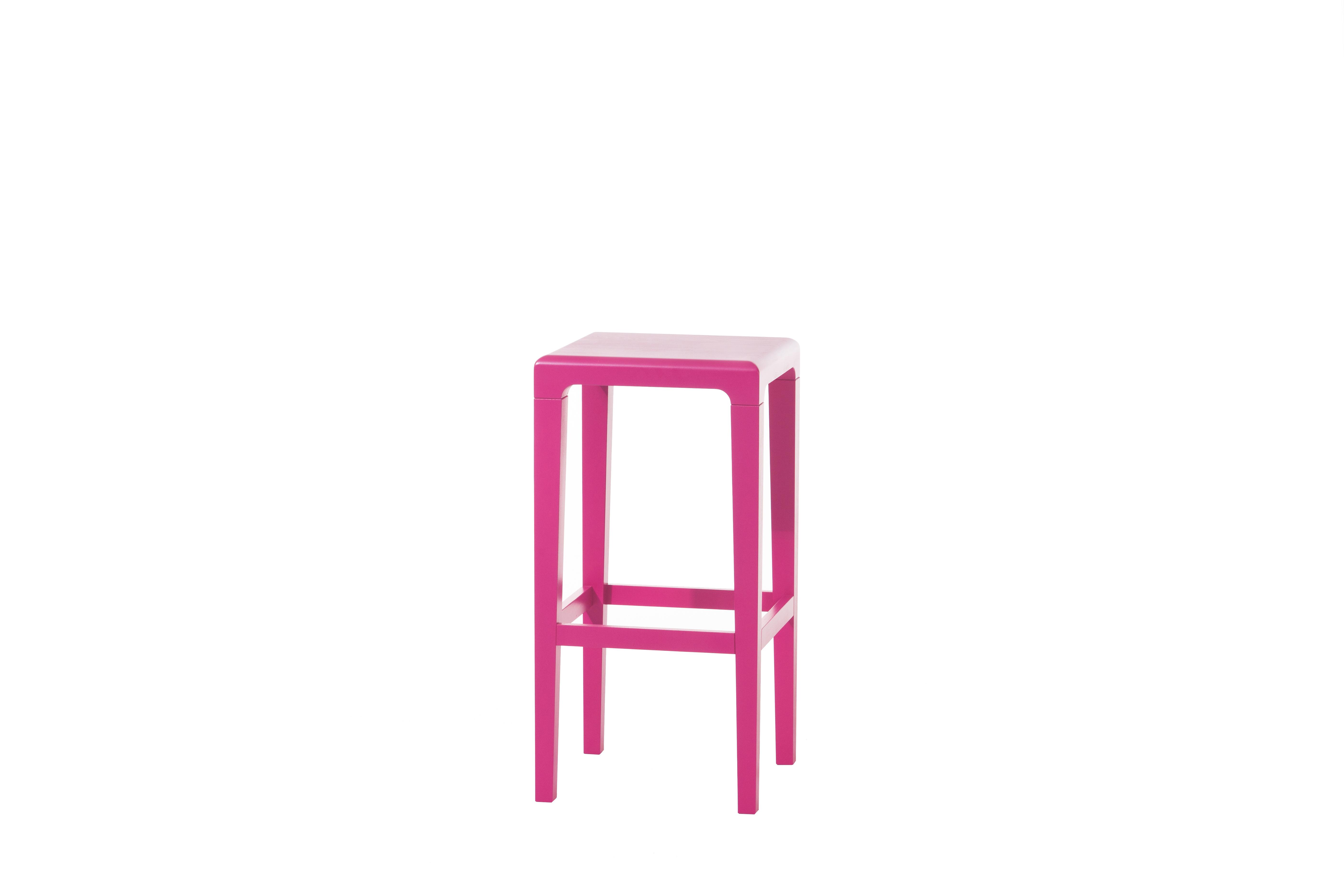 Scaun din lemn de stejar Rioja Pink Small, l32xA32xH64 cm