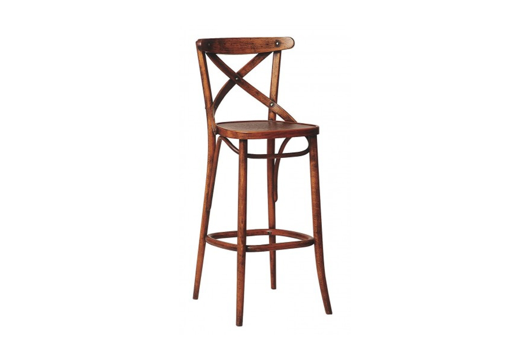 Scaun Bar Lemn Fag Antique Brown - 5295