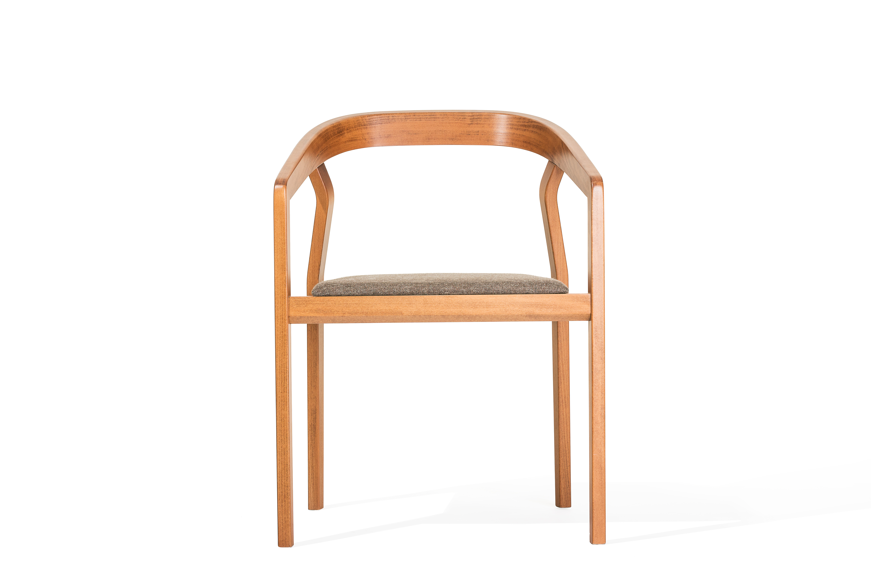 Scaun din lemn de fag tapitat cu stofa One Natural l465xA44xH79 cm