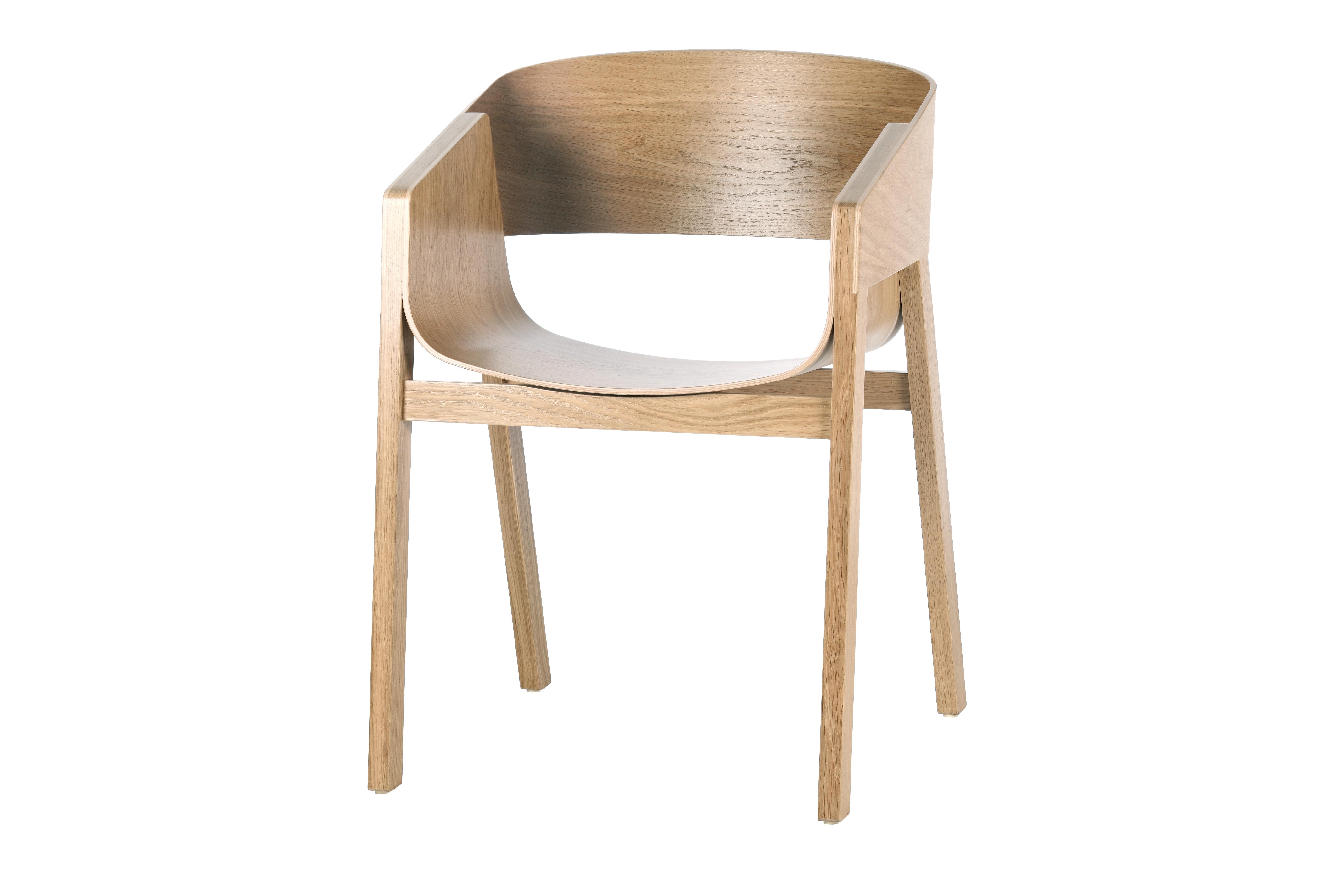 Scaun din lemn de stejar Merano Natural l475xA39xH78 cm